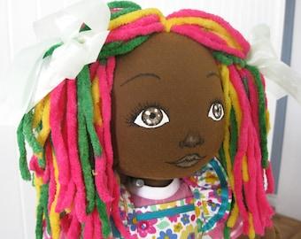 Black cloth doll 19 inches