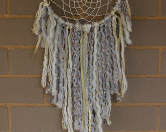 Handmade Dreamcatcher - White, Gold, Gray - Urban Outfitters, Free People