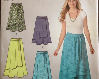 Simplicity E2216 - Faux Wrap Pull On Skirt in Two Lengths - Size 10 - 18