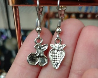 Cherry and strawberry earrings