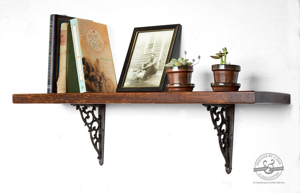 Reclaimed Wood And Metal Wall Shelves: 30 Dark Wood Shelves Reclaimed Wood Shelves Rustic