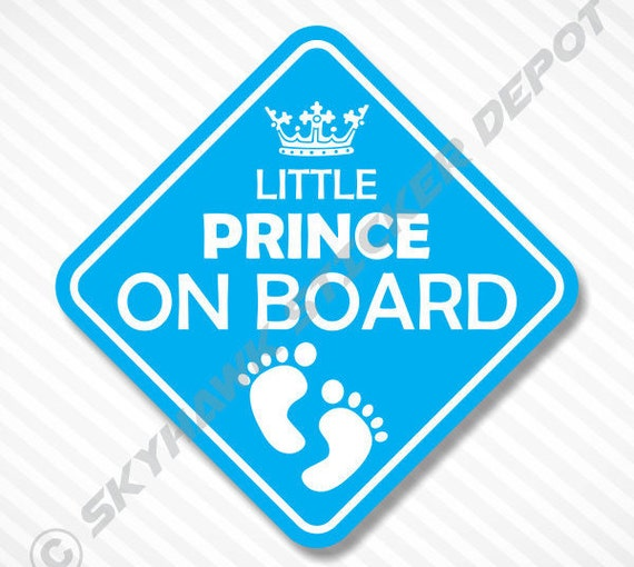 Little prince on board bumper sticker vinyl decal baby boy - Sticker petit prince ...