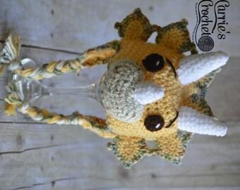Ready To Ship! - 0-3mo Crochet Triceratops Dinosaur Hat