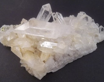 ARKANSAS QUARTZ CLUSTERS Crystal Clear Quartz Crystals; Minerals; Metaphysical Healing, Decoration Plate, Meditaion, Absorbs Negative Energy