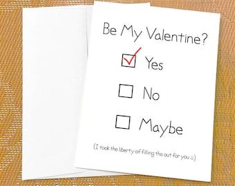 Valentines card him  Etsy