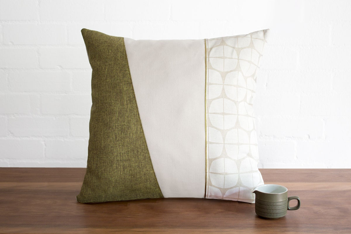 Cushion cover throw pillow in mid century modern vintage style