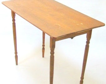 Vintage Sewing Table; Vintage Tailor's Table; Crafting Table; Craft Room; Vintage Wood Table; Folding Table