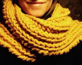Cowl Neck Warmer Handmade