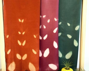 Pumpking orange scarf, spiced orange scarf, shibori scarf, persimmon scarf, wool/silk scarf, handmade scarf, Holiday scarf, gift for her