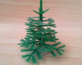 Plastic Christmas Tree. Rustic. Christmas Decor