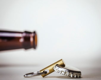 Keychain Bottle Opener - EDC Tool - CNC Brass Keychain Tool