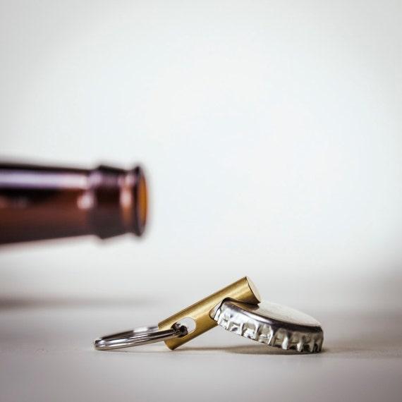 keychain bottle opener edc tool cnc brass keychain tool. Black Bedroom Furniture Sets. Home Design Ideas