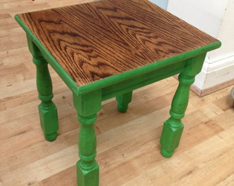 Small Upcycled Wood Side Table
