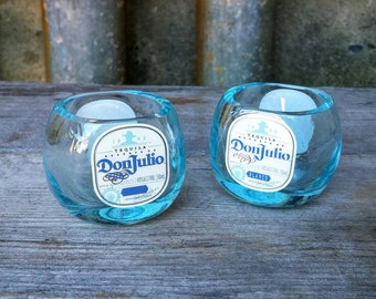Don Julio Mini Tequila Bottle Upcycled Shot Glasses