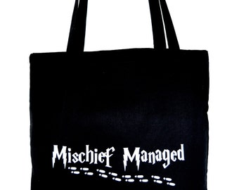 Jute bag mischief managed