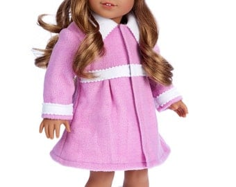Lavender - Doll Clothes for 18 inch American Girl Doll - 3 Piece Doll Outfit - Coat, Hat and Boots