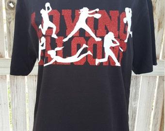 Loving Falcons T-Shirt GLITTER