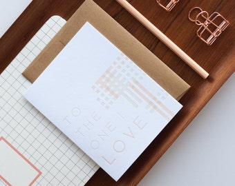 To the One I Love Letterpress Card