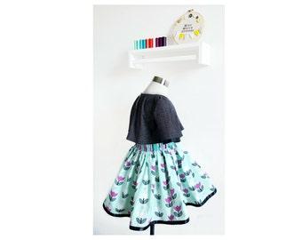 4T Birthday Dress - OOAK – Little Girls Formal Dress – Toddler Boutique Dress – Little Girls Party Outfit – Toddler Spring Cape Dress