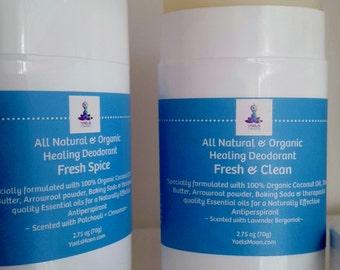 Organic//Deodorant//Antiperspirant//Essential Oils//Yaels Moon     2.75 oz