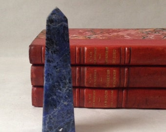 lapis lazuli obelisk, small in size, paperweight or décor