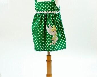 Girl dress Baby girl dress  girl  Tinker Bell dress  birthday outfit, toddler dress girl dress toddle Tinker Bell dress Baby dress