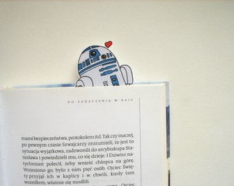 R2D2 Star Wars bookmark - birthday gift for him gift for her instant download printable