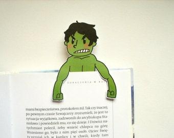 Hulk Marvel bookmark Avengers Incredible Hulk comic book movie printable instant download