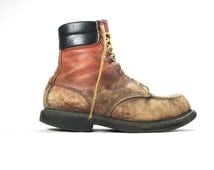 10 EE - Vintage Red Wing Work Boots Very Distressed