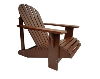 Adirondack Chair in Classic Style. Made from Polywood - All Weather and Maintenance Free!