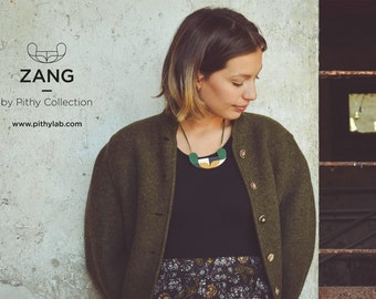 ZANG // Hand-painted necklace