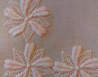 Vintage Tablecloth: Pretty Pale Pink Linen, Floral Detail, Square