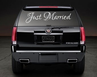 Just Married Wedding Car Decal- White Only