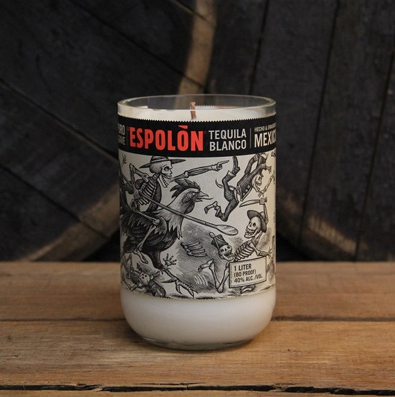 Espolon Tequila Candle Gift, Valentines Gift For Him, Valentines Present For Guy, Gift For Husband, Gift For Boyfriend, Valentines Guy Gift