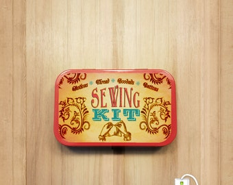 Printable Sewing Kit Label - Instant Download that fits on a standard Altoids Tin