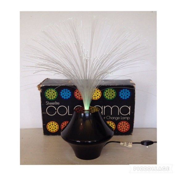 Vintage 60s 70s sheerlite colorama fibre optic colour change like this item mozeypictures Images