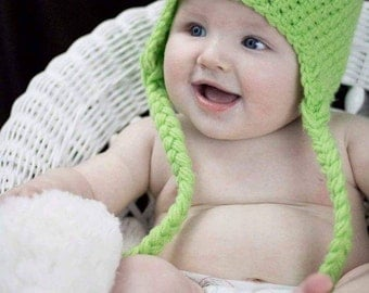 Lime green monster Tuque
