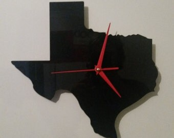 Texas Silhouette Clock