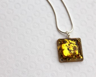 Resin Necklace, Resin Pendant, Resin Jewellery, Bead Necklace