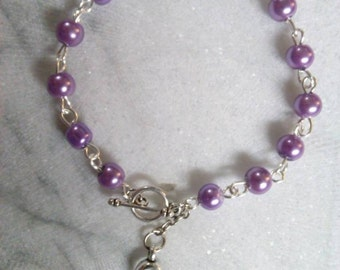 Cancer Awareness Bracelet-Custom Fit To Your Wrist Size