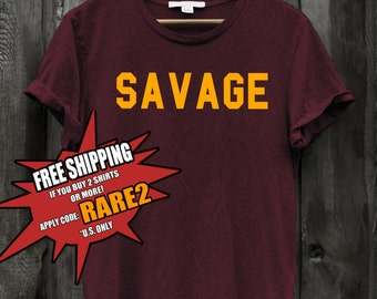 Savage Tshirt and sweater for men and women unisex cotton rapper ootd