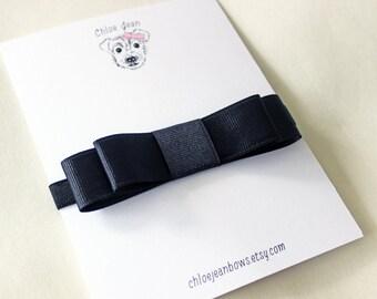 The Alice Black Grosgrain Tuxedo Bow Headband, Baby Headband, Toddler Black Bow Headband, Pretty Headband, Black Bow Headband, Black Bow