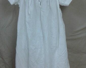 Chemise, Women's Cotton/Linen Victorian-era, Medieval, SCA, LARP, Renn Faire, Nightgown, Short sleeve