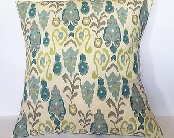 Throw pillow accent pillow cover blue and green accent pillow cover home decor couch pillow decorative throw pillow cover
