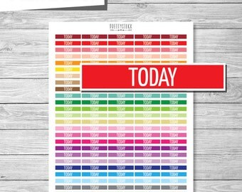 Today Stickers, Printable Today Header Stickers, Printable Planner Stickers, Today Planner Stickers, Today Header Stickers - PS136