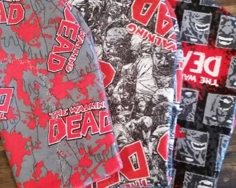 3 Pack The Walking Dead Baby Burp Cloths, Hourglass Burp Cloth, Flannel Burp Cloths, Zombie Baby, Licensed The Walking Dead Burp Cloths
