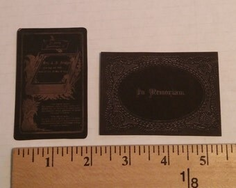 Mini Victorian Memento Mori and Memorial Cards -014