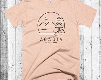 Acadia T-shirt, Maine T-shirt, Acadia National Park, Hipster Modern T-shirt, Camping T-shirt, National Park Tees Gift, Jordan Pond Tee
