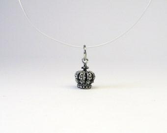 Beautiful Crown jewelry pendant Silver 925