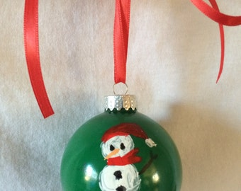 Christmas Ornament with Snowman